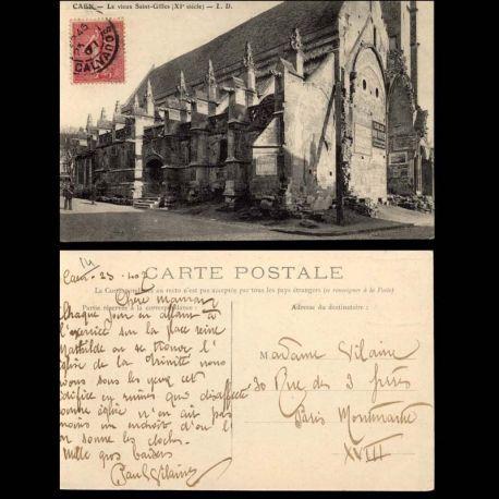 Carte postale 14 - Caen - Le vieux Saint Gilles