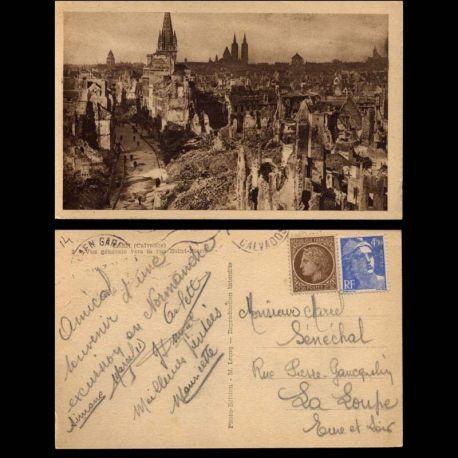 Carte postale 14 - Caen - Vue generale vers la rue Saint-Pierre