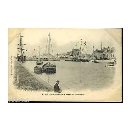 Carte postale 14 - Courseulles sur Mer - Bassin du commerce