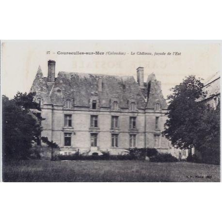 Carte postale 14 - Courseulles-sur-Mer - Le chateau - Facade de l'Est - Non voyage - Dos d...