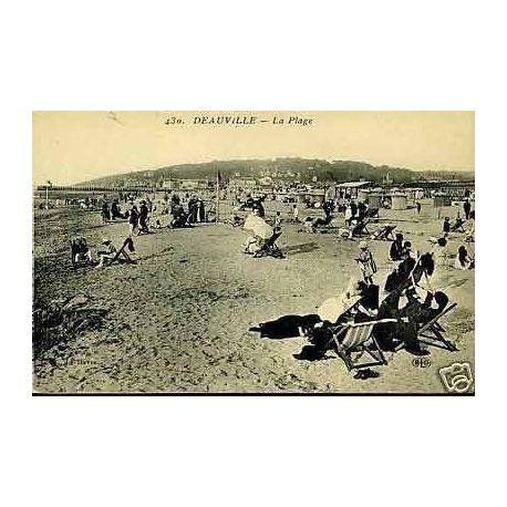 Carte postale 14 - Deauville - La plage