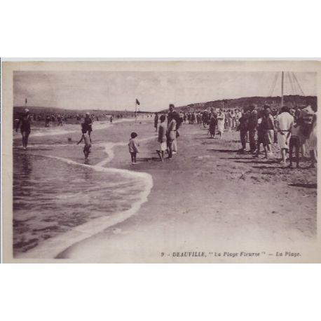 Carte postale 14 - Deauville - La plage fleurie - la plage - Voyage - Dos divise...