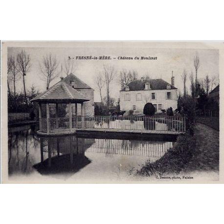 14 - Fresne-la-Mere - Le chateau du Moulinet - Voyage - Dos divise...