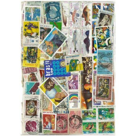 Collection de timbres Bresil oblitérés