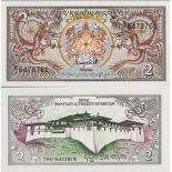 Billet de banque Bhoutan Pk N° 13 - 2 Ngultrums