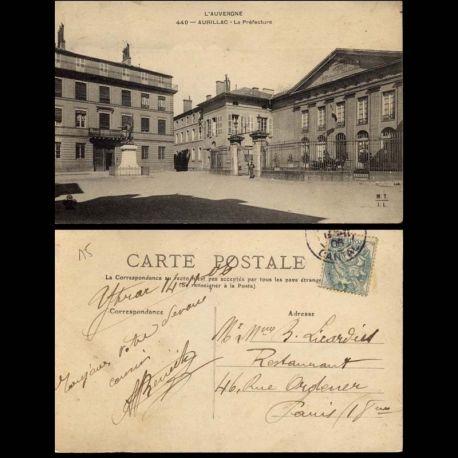 Carte postale 15 - Aurillac - La prefecture