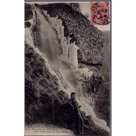 15 - Cantal - Cascade du Petrus pres Saint-Jacques des Blats - Voyage - Dos ...