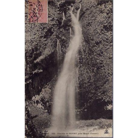 Carte postale 15 - Cascade de Gourt pres Menet - Voyage - Dos divise...