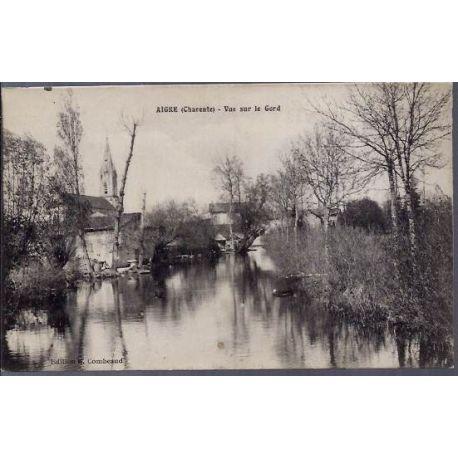 Carte postale 16 - Aigre ( Charente) - Vue sur le Gord - Voyage - Dos divise