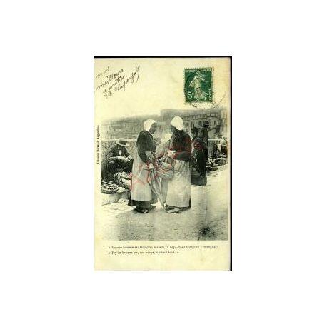 Carte postale 16 - ANGOULEME - DEUX PAYSANNES AU MARCHE