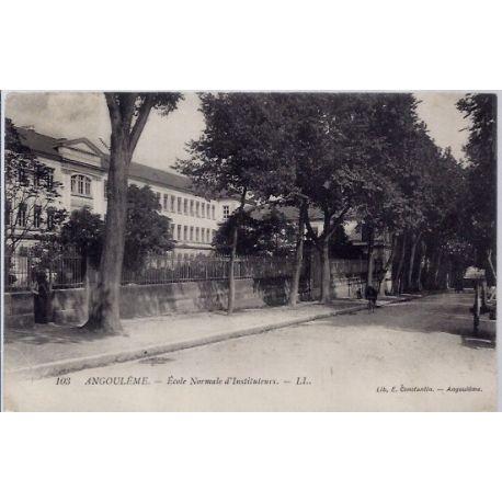 Carte postale 16 - Angouleme - Ecole normale d'instituteurs- Voyage - Dos divise...