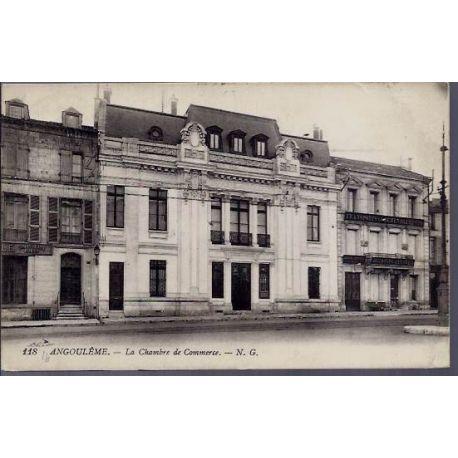 Carte postale 16 - Angouleme - La chambre de Commerce - Voyage - Dos divise