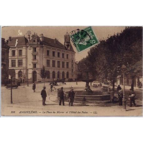 Carte postale 16 - Angouleme - La place du Ma»rier et l' hotel des postes- Voyage - Dos div...