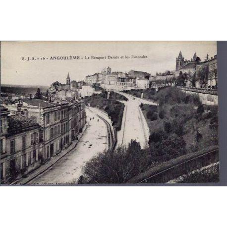 Carte postale 16 - Angouleme - Le rempart Desaix et les Rotondes - Non voyage - Dos divise