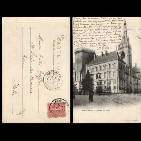 Carte postale 16 - angouleme - L'Hotel de ville
