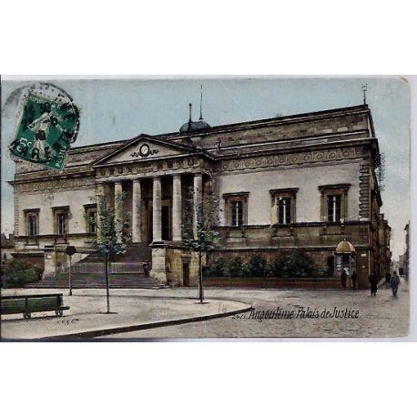 Carte postale 16 - Angouleme - Palais de justice - Voyage - Dos divise...