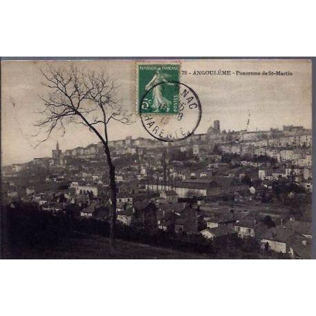 16 - Angouleme - Panorama de St-Martin - Voyage - Dos divise