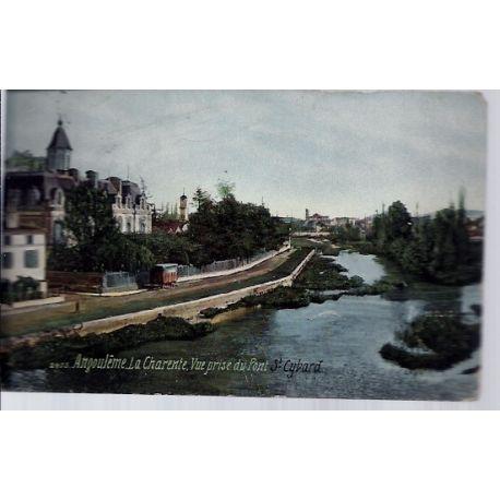 Carte postale 16 - Angouleme - Vue prise du pont St Cybard - Voyage - Dos divise...