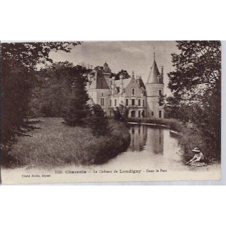 16 - Charente - le chateau de Londigny dans la parc - Non voyage - Dos divis...