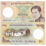 Colección Billetes Bhután Pick número 31 - 50 Ngultrum 2006