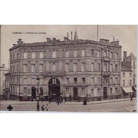16 - Cognac - l' Hotel de Londres- Voyage - Dos divise...