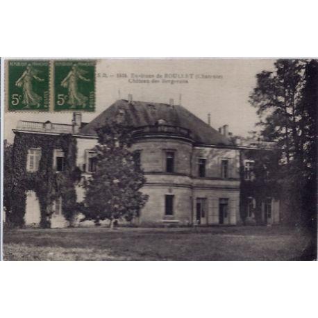 16 - Environs de Roullet - Chateau des Bergerons- Voyage - Dos divise...
