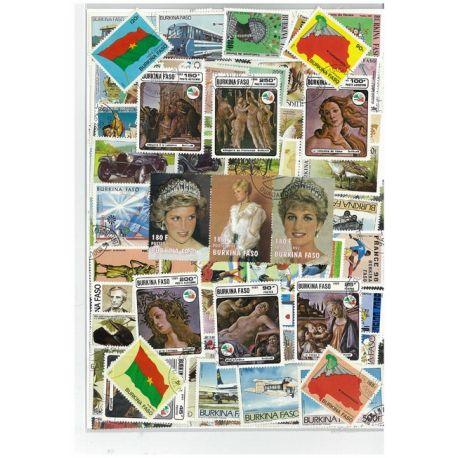 Burkina Faso - 25 verschiedene Briefmarken