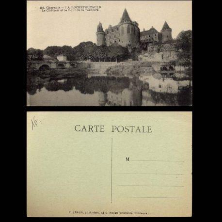 16 - La Rochefoucauld - Chateau et pont de la Tardoire