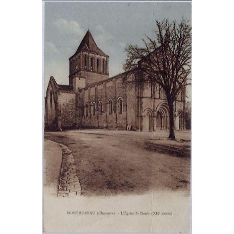 16 - Montmoreau - L' eglise St-Denis - Voyage - Dos divise...