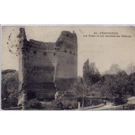 16 - Perigueux - La tour et les jardins de Vesone - Voyage - Dos divise...