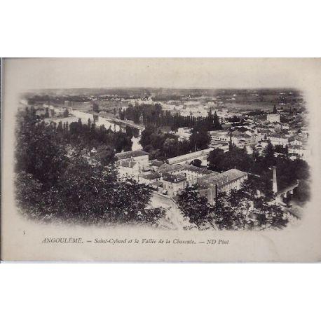16 -Angouleme - Saint-Cybard et la vallee de la charente - Non voyage - Dos ...