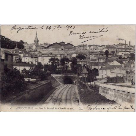 16 -Angouleme - Vers le tunnel du chemin de fer - Voyage - Dos non divise...