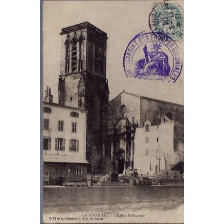 17 - La rochelle - L' eglise St-Sauveur - Voyage - Dos non divise...