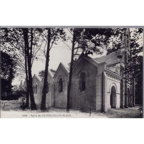 17 - Chatelaillon-Plage - Eglise - Voyage - Dos divise...