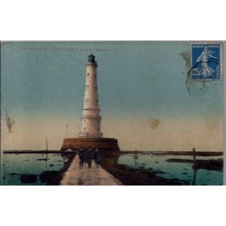 17 - Cordouan - Le phare de Cordouan a maree basse - Voyage - Dos divise...