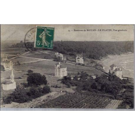 17 - Environs de Royan - le platin - vue generale - Voyage - Dos divise...