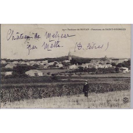17 - Environs de Royan - panorama de Saint-Georges - Voyage - Dos divise...