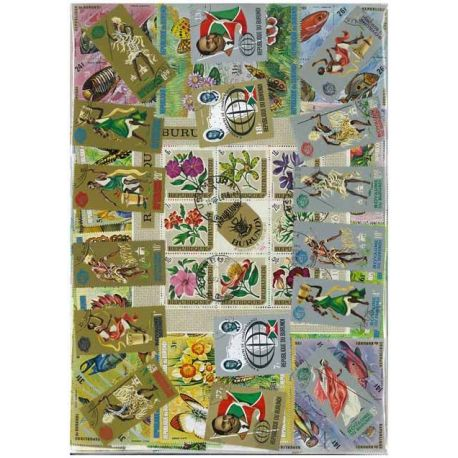 Burundi - 100 verschiedene Briefmarken