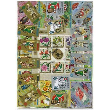 Burundi - 100 timbres différents