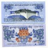 Collection of Banknote Bhutan Pick number 27 - 1 Ngultrum 2006