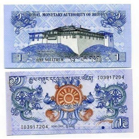 Bhoutan - Pk N° 27 - Billet de 1 Ngultrum