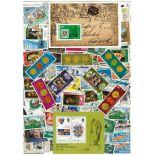 Used stamp collection Caïmanes