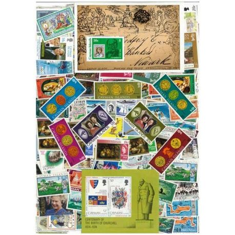 Cayman - 10 different stamps