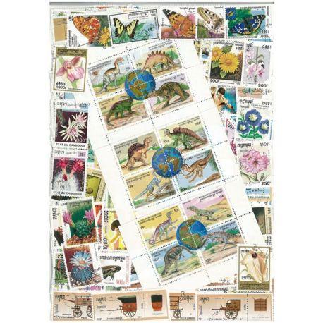 Kambodscha - 100 verschiedene Briefmarken
