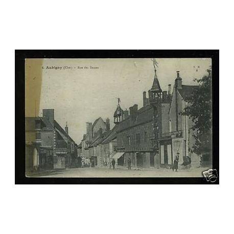 Carte postale 18 - Aubigny - Rue des Dames