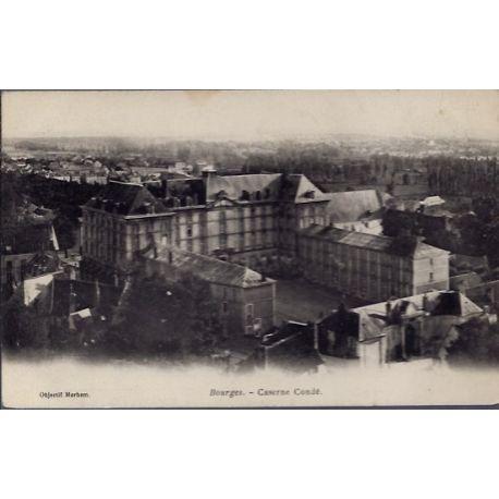 Carte postale 18 - Bourges - Caserne Conde - Non voyage - Dos non divise...