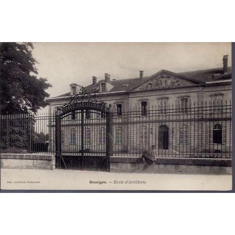 Carte postale 18 - Bourges - Ecole d' Artillerie - Non voyage - Dos non divise...