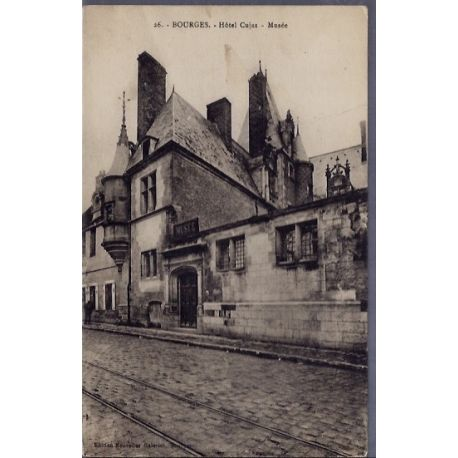 Carte postale 18 - Bourges - Hotel Cujas - Musee - Voyage - Dos divise...