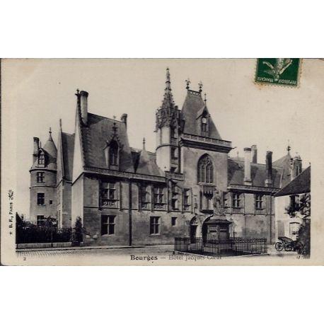Carte postale 18 - Bourges - Hotel Jacques Coeur - Voyage - Dos divise...