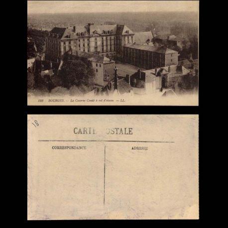 Carte postale 18 - Bourges - La Caserne Conde a vol d'oiseau
